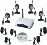 Mini Wireless Color Spy Cameras With PC USB Adapter (Set of 4)